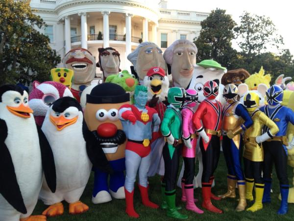 Skipper and Kowalski at the 2012 Easter Egg Roll