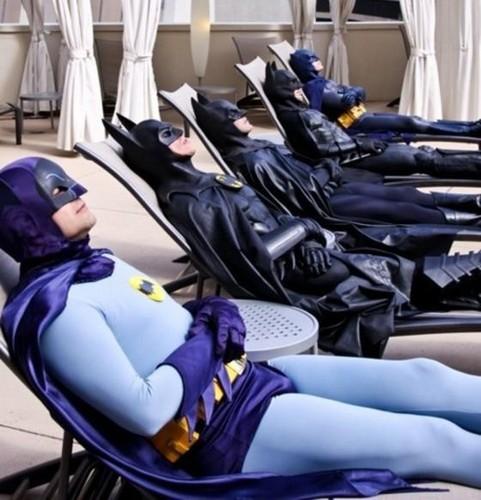 Suntanning Batmans!