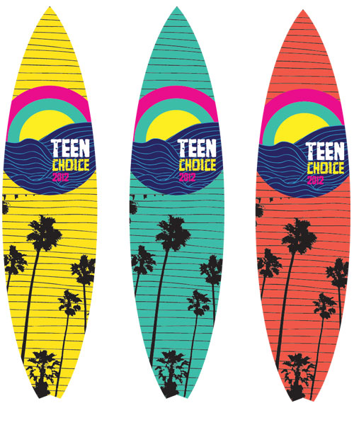 Teen Choice Awards 2012 Images TCA Surfboards