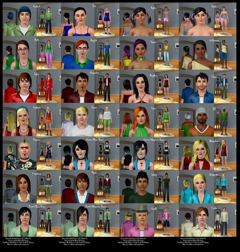TDWT Cast,Sims Style!