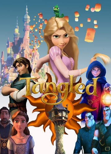 Walt Disney shabiki Art - Tangled