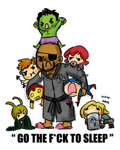 The Avengers kertas dinding containing Anime called The Avengers /Bedtime