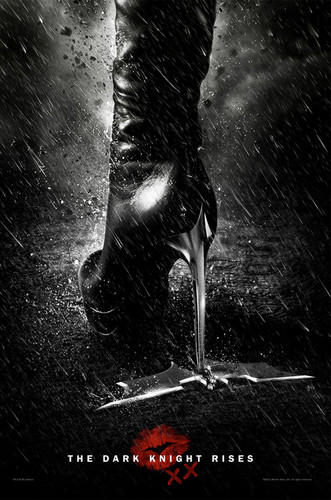 The Dark Knight Rises' poster: Catwoman leaves her mark