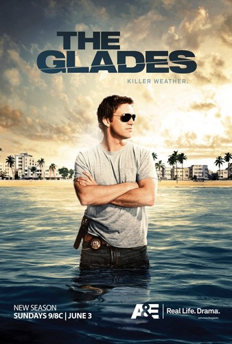 The Glades wallpaper possibly containing a business district, a sign, and a carriageway entitled The Glades Season 3 Promo Poster