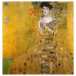 Fine Art wallpaper titled The Kiss Oil Painting by Gustav Klimt
