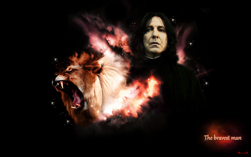 severus snape fondo de pantalla entitled The bravest man
