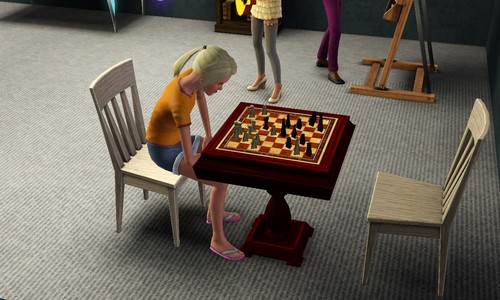 The lonely chess game