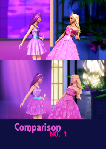 Trailers comparison no.1 - barbie-movies Fan Art