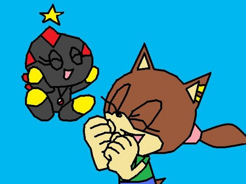 Victoria the hedgehog as me when i was a kid and Darkness the chao or sally