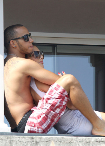Nicole Scherzinger wallpaper possibly with a pezzo, hunk and skin called Wearing A Bikini In Italy [29 May 2012]
