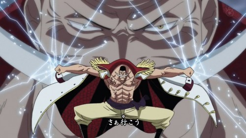Whitebeard break's the air