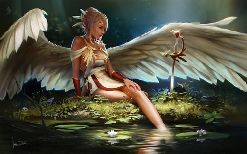 thiên thần hình nền entitled thiên thần