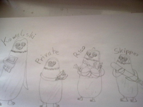baby: Skipper, Kowalski, Private and Rico