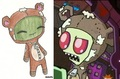 chibi redraw- zim`s bear suit - invader-zim fan art