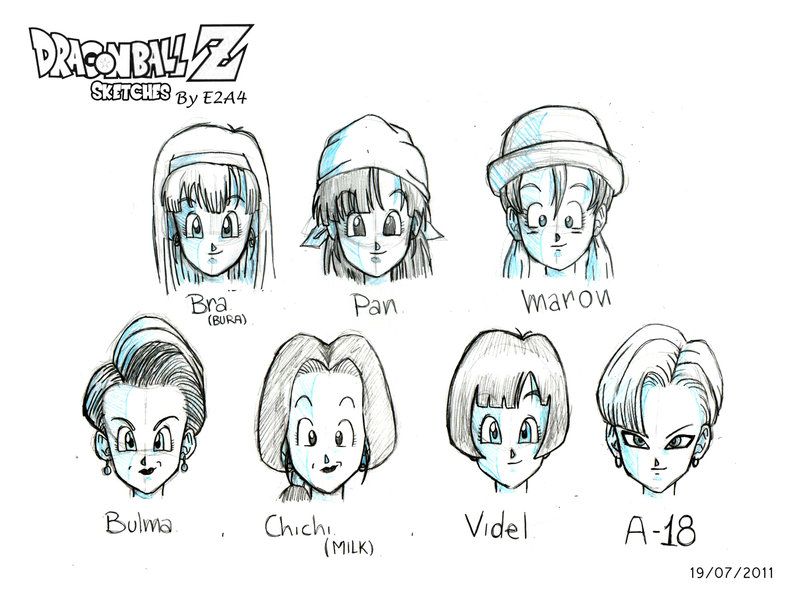 Dragonball Z Girls Only Images Dbz Girls Sketch Hd Wallpaper And