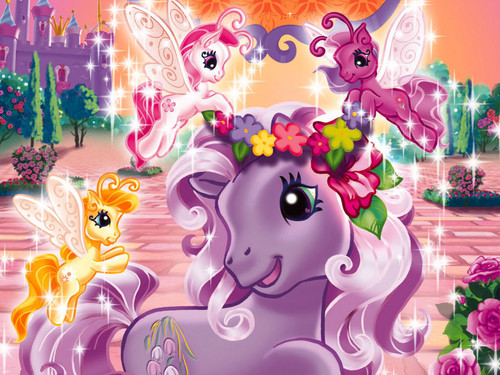My Little Pony wallpaper possibly with a bouquet entitled disney fairies