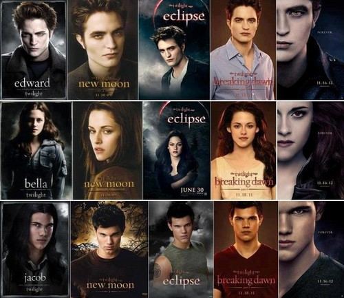 Twilight Series wallpaper probably containing a portrait entitled edward,bella&jacob