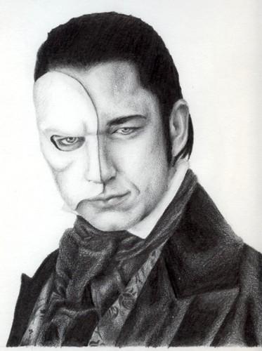 The Phantom Of The Opera wallpaper entitled erik drawing