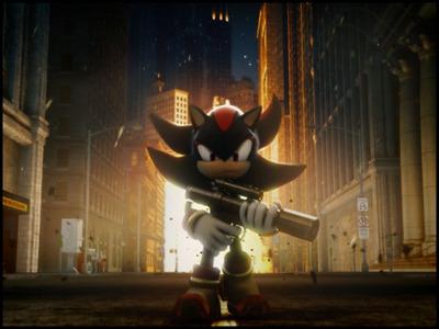 Shadow The Hedgehog kertas dinding titled gun
