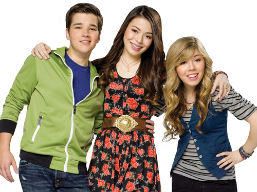 iCarly वॉलपेपर probably containing an outerwear called iCarly
