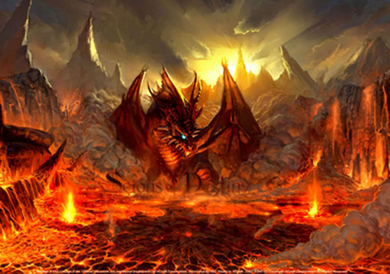 Cool Fire Dragon Pictures Cool fire dragons
