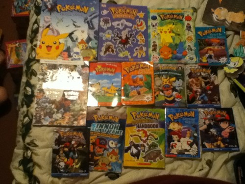 my pokemon books,movies and games!!