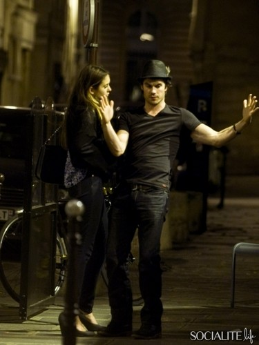 nian paris 2012  - ian-somerhalder-and-nina-dobrev Photo