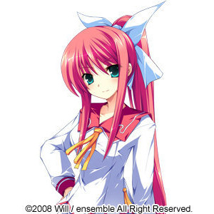 merah jambu haired Anime girls