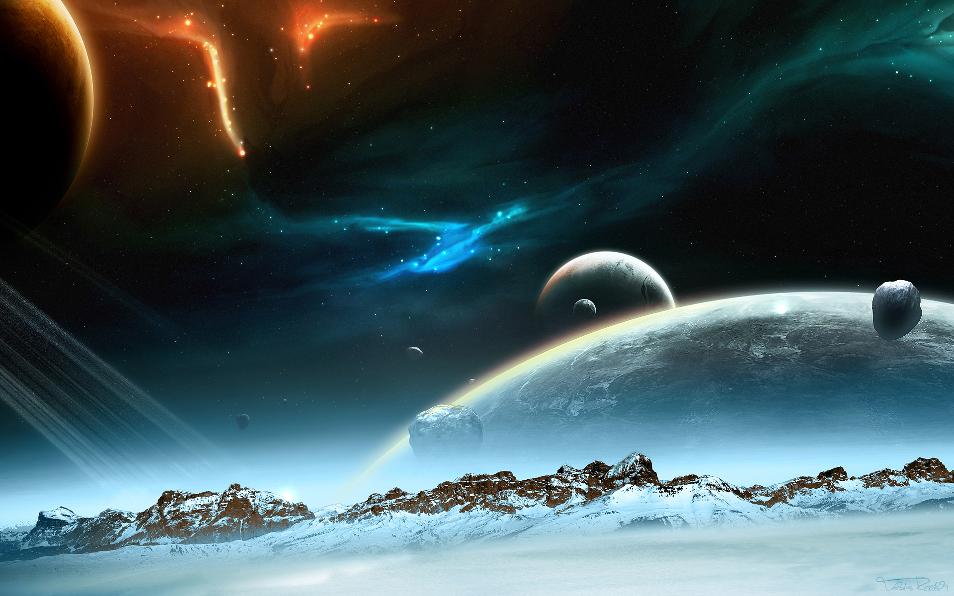 Space Wallpaper 320x240