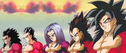 Dragon Ball Z karatasi la kupamba ukuta with anime titled ssj4