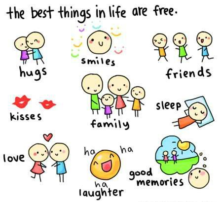 Random wallpaper called the best things in life. :)