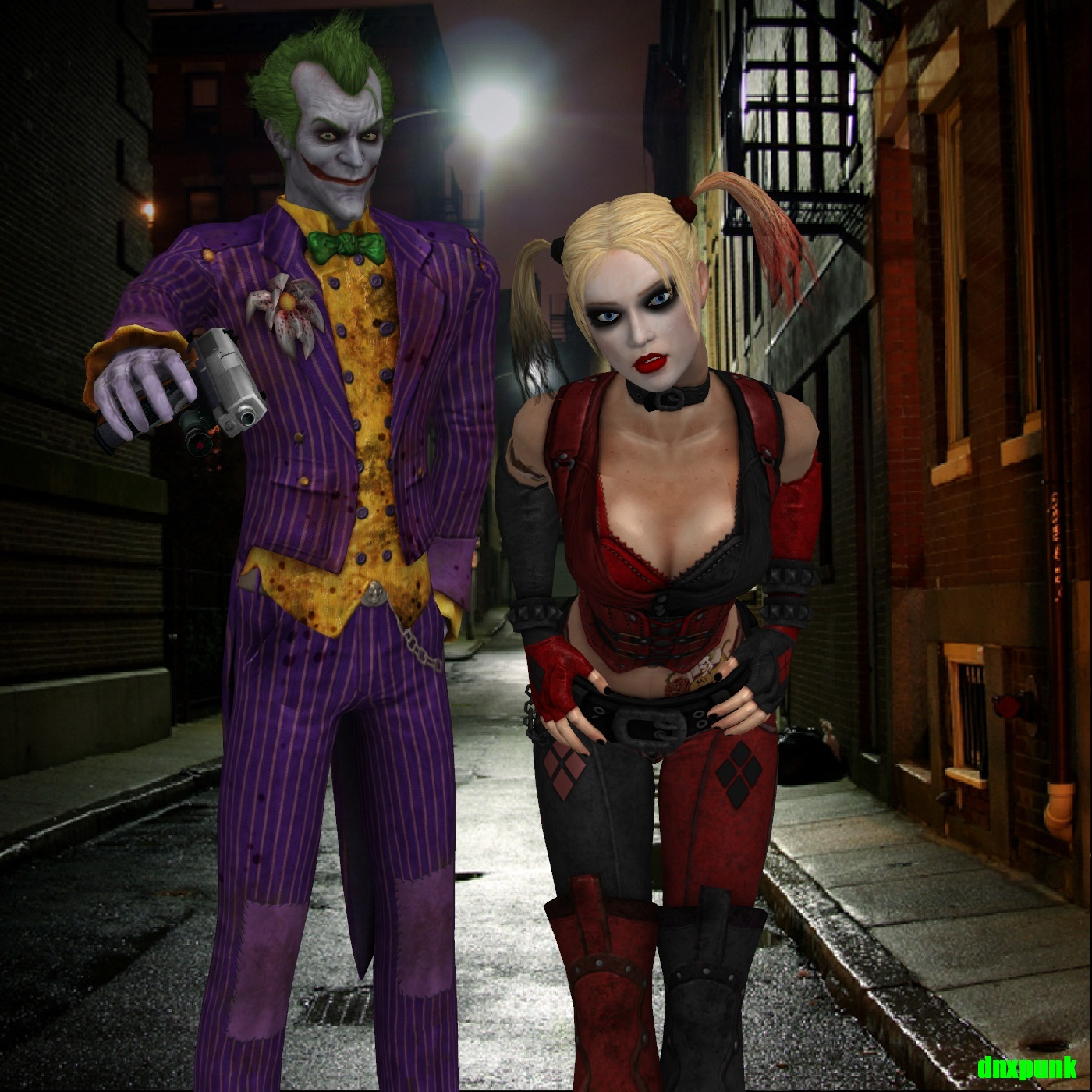 Batman Arkham City The Joker And Harley Quinn