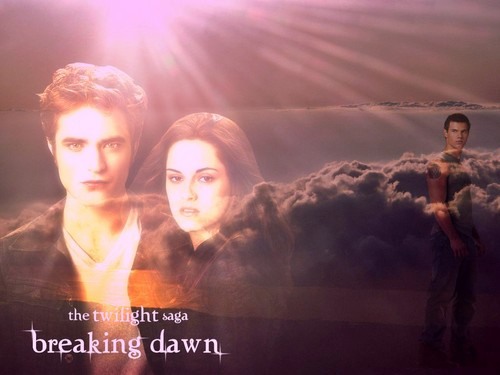 Breaking Dawn The Movie wallpaper probably containing a sunset titled the twilight saga - edward-bella