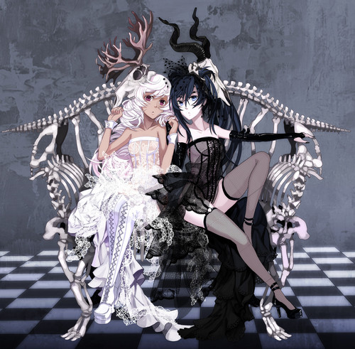 "DarkCruz360 wallpaper with anime entitled ""Goth ladies"""