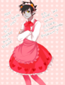 *Le tries to amuse Minty with Maidstuck*