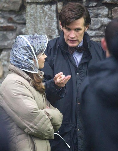 ‎Matt Smith and Jenna-Louise Coleman on the set of Doctor Who