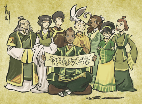 in teashop - avatar-the-last-airbender Fan Art