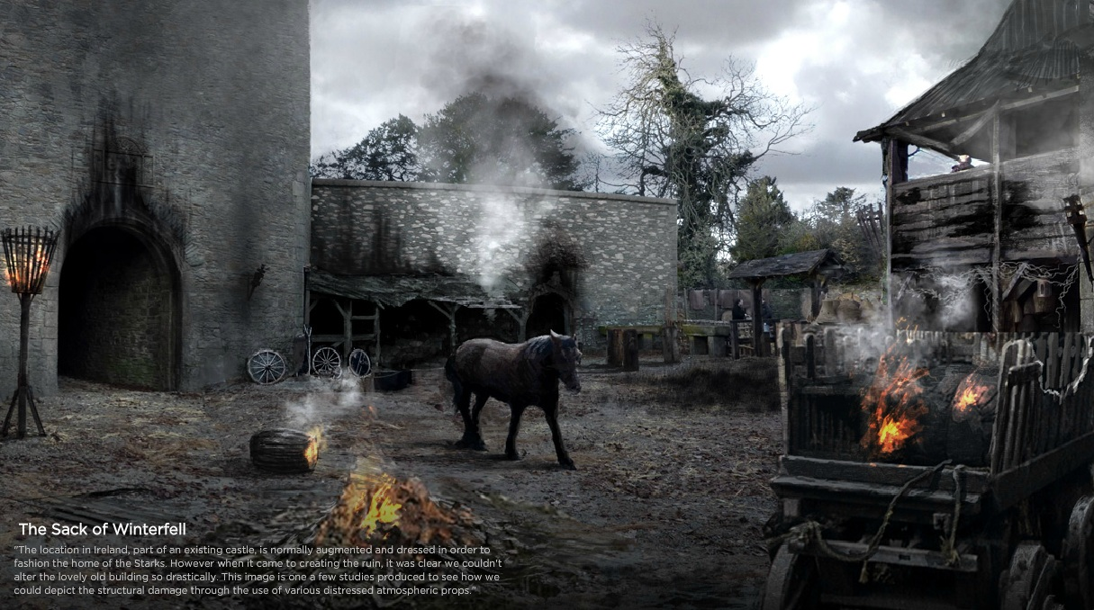 The Sack of Winterfell concept art