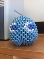 3D Origami Pacman Ghost -Inky