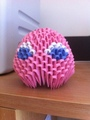3D Origami Pacman Ghost -Pinky - pac-man fan art