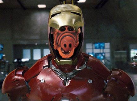 ALF as iron man
