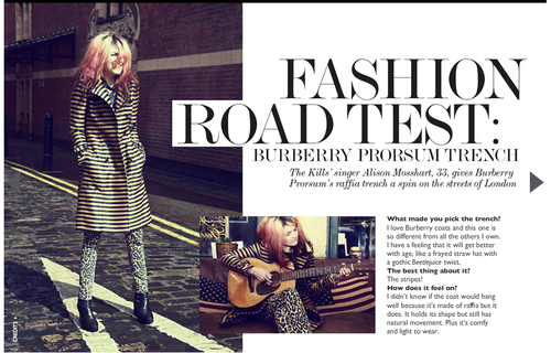 Alison's Fashion Road Test for Net Porter