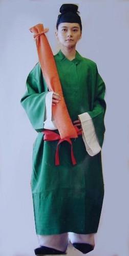 Ancient Japanese Men's Clothing, Asuka Period (538 A.D. - 710 A.D.)