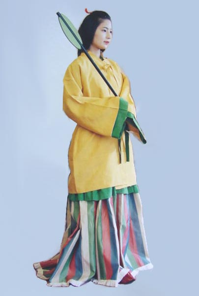 Ancient Japanese Women's Clothing, Asuka Period (538 A.D ...