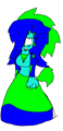 Anelle The Hedgewolf (a.k.a me when i met killaudia ^^) - sonic-fancharacter-yuri photo