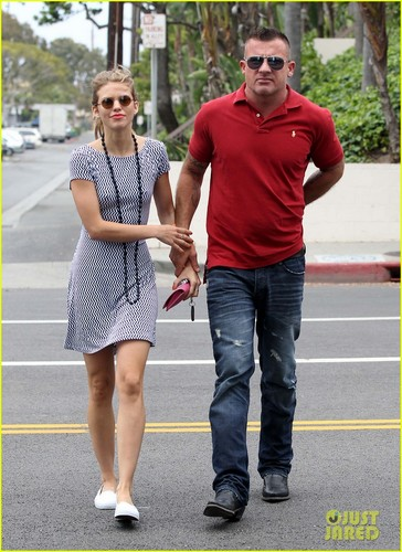 AnnaLynne and Dominic out and about on Friday (June 1) in Los Angeles