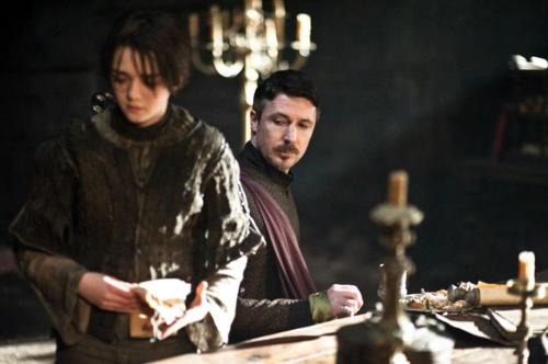 Arya Stark wallpaper probably with a brasserie entitled Arya Stark & Petyr Baelish