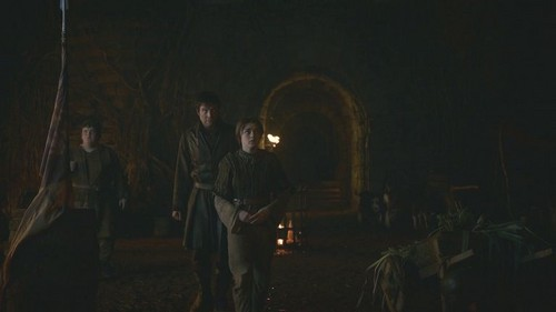 Arya with Gendry and Hot Pie