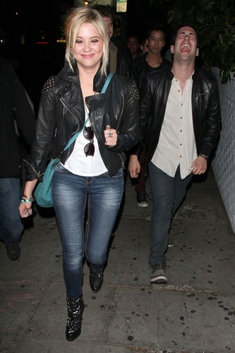 Ashley  leaving the Chateau Marmont with Keegan - pretty-little-liars-tv-show Photo