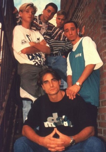 The Backstreet Boys 바탕화면 possibly with a sign and a 거리 titled Backstreet Boys